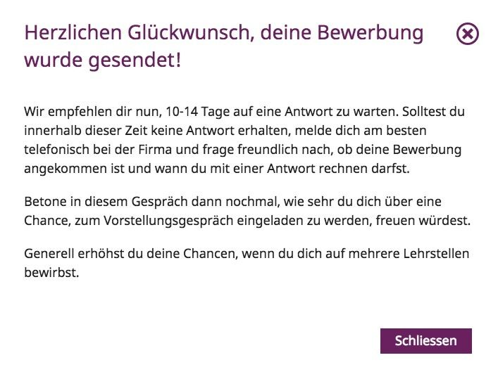 yousty tipp - Email Bewerbung